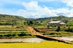 Chiesa in un piccolo viallge nel Madagascar Fotografia Stock Libera da Diritti