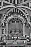 Chiesa unita a Saskatoon, Canada fotografia stock