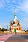 Chiesa in Uralsk, Kazakhstan di ortodossia Fotografie Stock Libere da Diritti