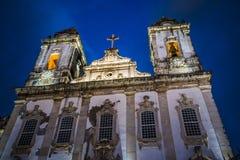 Chiesa V O T faccia Carmo, Salvador, Bahia, Brasile immagini stock libere da diritti