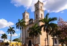 Chiesa a Valladolid, Messico Fotografia Stock Libera da Diritti