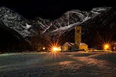 Chiesa Vecchia, Macugnaga fotos de archivo libres de regalías