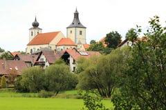 Chiesa in Velhartice Fotografia Stock
