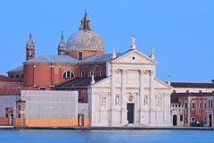 Chiesa Venezia nel crepuscolo, Italia del maggiore del San Giorgio Immagini Stock