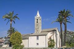 Chiesa vicino a San Stefano in Liguria Immagine Stock