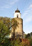 Chiesa, villaggio - Zulova Fotografie Stock Libere da Diritti