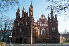 Chiesa a Vilnius Fotografia Stock Libera da Diritti