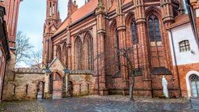 Chiesa Vilnius Lituania di Bernadine fotografia stock