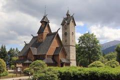 Chiesa Wang di Karpacz poland Immagini Stock