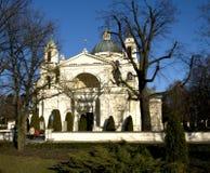 Chiesa in Wilanow, Varsavia, Polonia della st Anneâs Fotografia Stock Libera da Diritti
