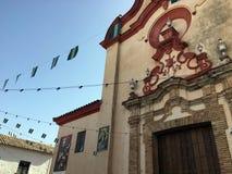 Chiesa a Zahara, Andalusia, Spagna durante il Feria immagine stock libera da diritti