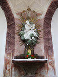 Chiesa Zelena Hora, scultura barrocco, Unesco Fotografie Stock