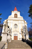 Chiesa - Zidlochovice Fotografia Stock