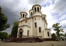 Chiesa Zvenigorod di ascensione fotografia stock libera da diritti