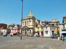 Chiesadi Santa Croce e Purgatorio Piazza del Mercato Napels Stock Afbeeldingen