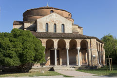 Chiesadi Santa Fosca Stock Afbeeldingen