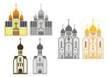 Chiese cristiane ortodosse royalty illustrazione gratis