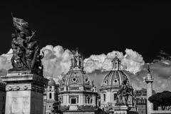 Chiese del gemello del forum di Traiano a Roma Immagine Stock Libera da Diritti