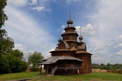 Chiese della Russia. Vecchia chiesa di legno in Suzdal Fotografie Stock Libere da Diritti