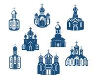 Chiese e tempie religiose illustrazione di stock