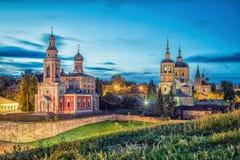 Chiese nel centro storico di Serpuchov Immagini Stock
