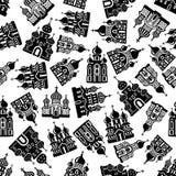 Chiese senza cuciture, tempie, modello delle cattedrali royalty illustrazione gratis
