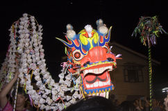 The Chiese Traditional  Dragon Dance Royalty Free Stock Photography