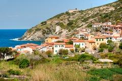Chiessi, ilha da Ilha de Elba, Toscânia, fotos de stock royalty free