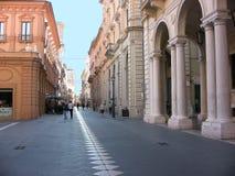 Chieti, calle principal imagen de archivo libre de regalías