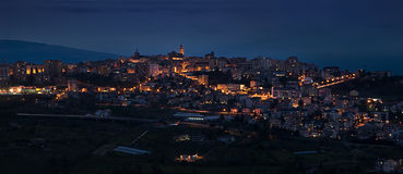 Chieti in the evening. Chieti panorama view in the evening Royalty Free Stock Image