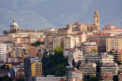 Chieti, one of the capitals of Abruzzo photographs with the back Royalty Free Stock Photography