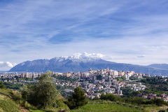 Chieti, one of the capitals of Abruzzo photographs with Maiella Stock Image