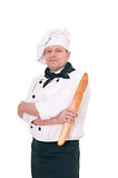 Chif with loaf Royalty Free Stock Images