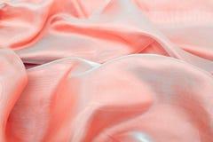 Chiffon astratto di colore rosa della priorità bassa Fotografia Stock