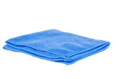 Chiffon bleu d'isolement Photo stock