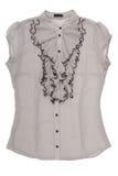 Chiffon blouse with jabot Royalty Free Stock Photo