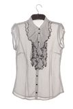 Chiffon blouse with jabot Stock Images