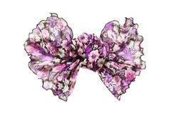 Chiffon bow isolated Royalty Free Stock Photo