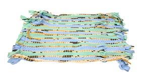 Chiffon coloré de chiffon d'isolement sur le blanc Photographie stock libre de droits