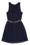 Chiffon dress. Dack blue chiffon dress with the sparkles on belt Stock Photography