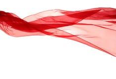 Chiffon rosso morbido con la curva e l'onda fotografia stock libera da diritti
