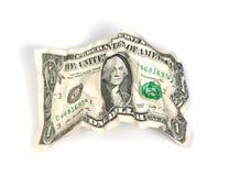 Chiffonné un dollar Images libres de droits