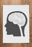 Chiffonnez le concept de cerveau de papier Photo libre de droits