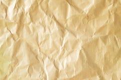 Chiffonnez le fond de papier brun image libre de droits