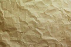 Chiffonnez le fond de papier brun de texture image libre de droits