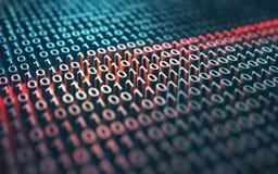 Chiffrage de code binaire Images libres de droits