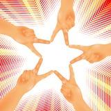 Chiffre étoile de mains Photo stock