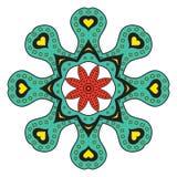 Chiffre abstrait de vecteur de fleur Images stock
