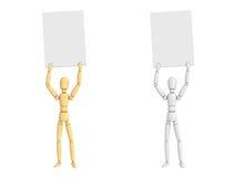 chiffre affiche de 3 poupées de pose de configuration de fixation illustration libre de droits