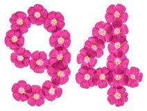 Chiffre arabe des fleurs roses du lin, d'isolement sur le fond blanc illustration libre de droits